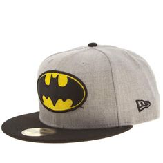 Send the signal out to all the bad guys - this Batman Heather Hero 59FIFTY  cap from superheroes New Era should help with that. 2920d29573d1