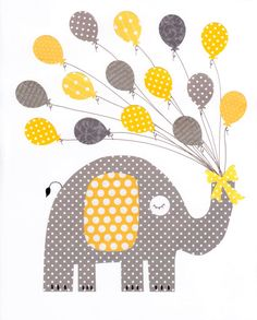 Yellow and Grey Love Nursery Artwork Print // Baby Room Decoration // Kids Room Decoration // Yellow and Grey Nursery // Gifts Under 20