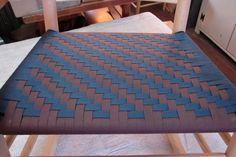 Herringbone in chocolate and navy Herringbone, Contemporary, Chocolate, Patterns, Navy, Rugs, Chair, Home Decor, Block Prints
