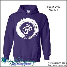 Zen & Om Symbol Enlightenment New Age Hoody Sweatshirt purple