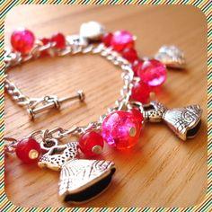 Little Pink Dress Charm Bracelet £10.00