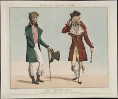 Les incroyables, March 1797, Lewis Walpole Library Digital Collection