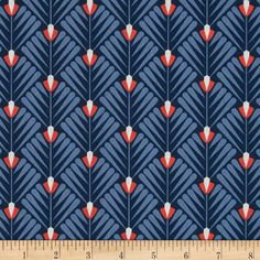 Designed by Elizabeth Olwen for Cloud 9 Fabrics, organic cotton fabric is perfect for quilting, apparel and home decor accents. This certified 100% organic cotton print meets the GOTS certification; only low impact, organic dyes were used in this product. Colors include coral, navy and white.