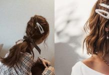 The Best Nail Polish Colors To Try This Fall : This Hair Accessory Is Making A Huge Comeback Fall Nail Polish, Best Nail Polish, Nail Polish Colors, Elegant Nail Designs, Elegant Nails, Hair Barrettes, Hair Clips, Colored French Tips, 90s Hairstyles