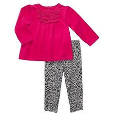 Carter`s Baby Girls Pink Velour Tunic and Leopard Leggings Pant Set (12 Months) for only $12.99 You save: $9.01 (41%)