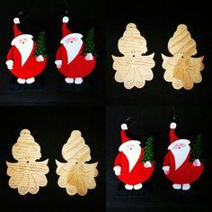 Père Noël et ange de Noël