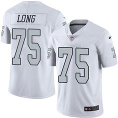 Nike #Raiders #75 #Howie #Long White Men's Stitched #NFL Limited #RushJersey