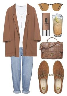 """Untitled #142"" by tamara-xox ❤ liked on Polyvore featuring moda, Clinique, Topshop, T By Alexander Wang, Ali Moosally, Zara, Proenza Schouler, River Island, Ray-Ban i white"