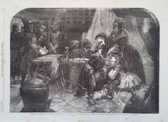 1856 PRINT THE LAST PARTING OF MARIE ANTOINETTE AND HER SON  by E M WARD #Realism