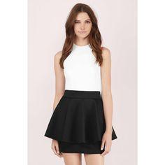 Tobi Elevate High Waist Peplum Skirt (76 AUD) ❤ liked on Polyvore featuring skirts, black, high-waist skirt, peplum skirt, high waisted skirts, high waisted peplum skirt and high-waisted skirts