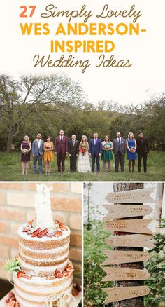 27 Simply Lovely Wes Anderson-Inspired Wedding Ideas --- I wouldn't actually do this but there's cute stuff in here
