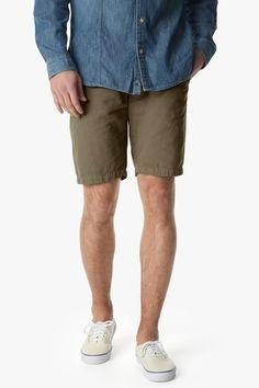 7 For All Mankind Mens Chino Shorts Dark Khaki - Shorts