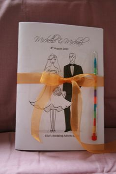 5x Childrens Personalised Wedding Activity/colouring Books favour kids gift pack