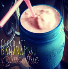 Tone It Up Nutrition Plan This creamy looking delight is the perfect post workout summer smoothie! We love how Tone It Up member TIUKandis served it in these beautiful mason jars. Just blend a frozen banana, cacao powder, a handful of berries, a little peanut butter and a scoop of Perfect Fit Protein and serve! #BESTSMOOTHIE #VEGASMOOTHIE