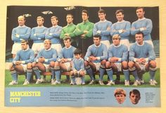 GOAL Football Magazine Manchester City (Maine Road) 1969-70 retro team picture poster