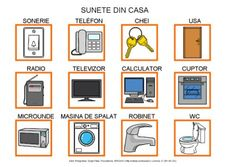 Sunete din casa by Dana Horodetchi, via Slideshare Romanian Language, Gallery Wall, School, Frame, Autism, Google, Dibujo, Television Set, Houses