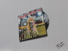 Watch on YouTube how I draw this Iron Maiden cover and vinyl http://youtu.be/hTQ28ZzuUmE HD video