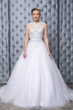 Veluz Reyes 2014 rtw #bridal collection: Amihan #wedding dress with illusion neckline front view #weddingdress #weddinggown