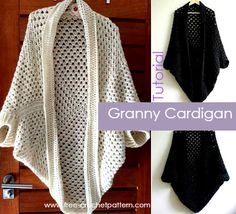 Granny Square Cardigan Free Tutorial