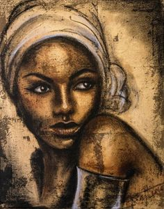"ARTFINDER: ""Black gold"", original painting on ca... by Elena Kraft - Original mixedmedia with gold leaf on canvas 40x50 cm."