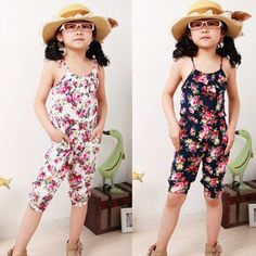 Fashion Summer Toddler Cute Girls Jumpsuit Short Playsuit Soft Clothing One-piece Shirt 2-8Y