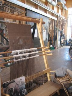 Weaving a sail at the Viking Ship Museum in Roskilde