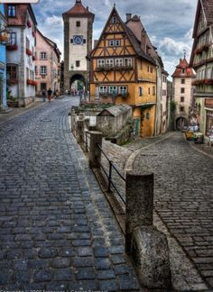 The most photographed corner of Rothenburg ob der Tauber, Germany. Very pretty, though far too many tourists.