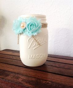 Hey, I found this really awesome Etsy listing at https://www.etsy.com/listing/189442340/decorated-mason-jar-cream-hand-painted