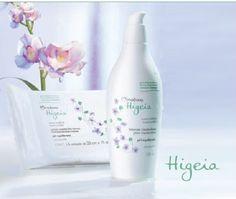 Productos Higeia presentados sobre una base recta