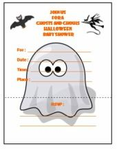 Printable Halloween Baby Shower Invitations And Templates Shower