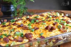 Loaded Baked Potato Casserole Horizontal with watermark