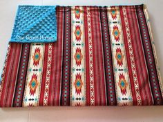Santa Fe Blanket, Southwest Adult Minky Blanket, Southwestern throw blanket, western Blanket, chenille, aztec print blanket, Southern Blanket, Cowboy Blanket Couch Blanket, Minky Blanket, Weighted Blanket, Throw Blankets, Western Baby Bedding, Western Babies, Southwestern Throws, Navajo Print, Cotton Throws