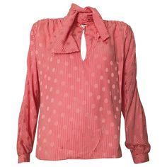 Valentino 1980s Silk Red & White Striped Blouse Size 8 NEVER WORN. https://www.1stdibs.com/fashion/clothing/blouses/valentino-1980s-silk-red-white-striped-blouse-size-8-never-worn/id-v_3302833/ @1stdibs #Valentino #blouse #silk #1980s #fashion #fashionista #forsale #shopping #vintage #luxury