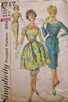 1960s Cocktail Evening Party DRESS Square by BluetreeSewingStudio, $49.00