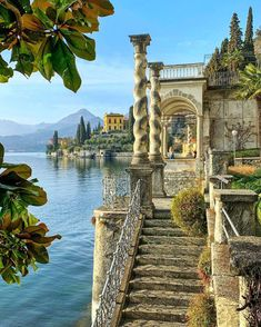 """Italy • Travel • Passion on Instagram: """"▪ Villa Monastero is located in Varenna, Province of Lecco, on the shore of Lake Como. The villa lies south of the village, halfway between…"""" Best Vacation Spots, Italy Vacation, Best Vacations, Vacation Trips, Inverness, Rome Travel, Italy Travel, Lakeside Hotel, Amalfi Italy"""