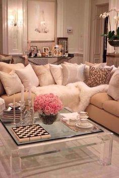 Feminine girly living room