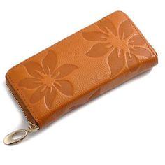 Women Wallets Fashion Flower Print Genuine Leather Wallets Women Clutch Wallets Lady Vintage Clutch Bag Coin Purse Women