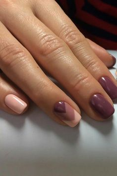 Decorated Nails: This is the manicure you do in this he .- Verzierte Nägel: Dies ist die Maniküre, die Sie in diesem Herbst tragen werden Decorated nails: this is the manicure you will be wearing this fall - Cute Nail Colors, Nail Polish Colors, Manicure Colors, Fall Nail Colors, Warm Colors, Stylish Nails, Trendy Nails, Nailed It, Fall Manicure