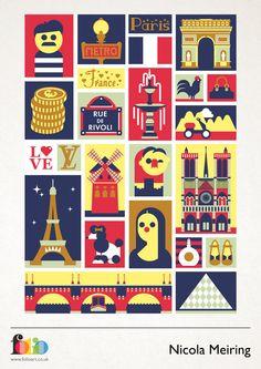 Nicola Meiring www.folioart.co.uk/illustration/folio/artists/illustrator/nicola-meiring - Agency: www.folioart.co.uk - #illustration #art #vector #france