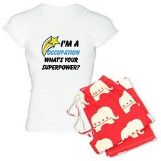 Cafepress Personalized What's Your Super Power Your Occupation Women's Light Pajamas, Size: 2XLarge (+$3.00)