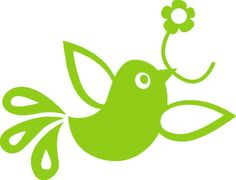 vogeltje-met-bloem-uit-de-serie-Frühlingsgezwitscher-lime