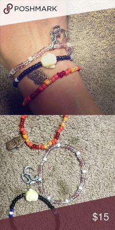 Bundle of spiritual bracelets Ohm, Buddha, and Hamsa bracelets. High quality beads and pendants Jewelry Bracelets