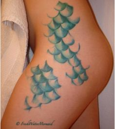 Mermaid Scales Tattoo - I MUST get something like this done! It's on my to-do list for sure.