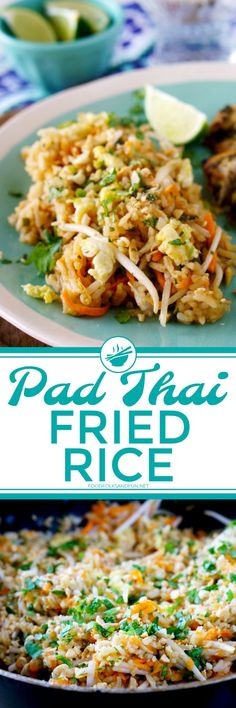 Pad Thai Fried Rice is everything you love about Pad Thai but in a fried rice recipe! It's easy to make, and completely delicious!