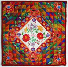 "gorgeous! ""hungarian medallion"" wall hanging quilt by allison aller, on allie's in stitches blog"