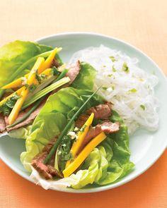 Asian Beef Lettuce Wraps - Martha Stewart Recipes #paleo