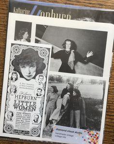 Katharine Kepburn Classic Movie Vintage by diamondcloudstudio