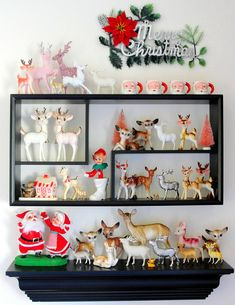 A very charming collection of Christmas kitsch. #vintage #Christmas #decorations