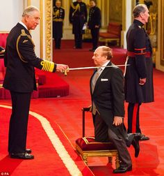 'Not bad for a blue-eyed soul singer': The 70-year-old was knighted by the Prince of Wales...