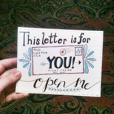 Hand Lettering Envelopes, Mail Art Envelopes, Cute Envelopes, Decorated Envelopes, Handwritten Letters, Addressing Envelopes, Letter Addressing, More Love Letters, Cute Letters